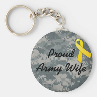 military army wife key chains