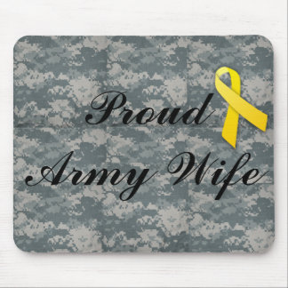 military army wife mouse pad