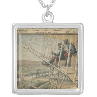 Military aviators on the Eastern front Silver Plated Necklace