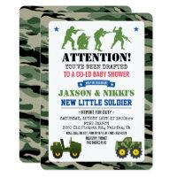 Military Baby Shower Invitation
