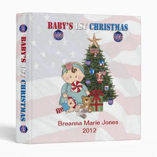 """Military Baby's 1st Christmas 1"""" Photo Album Binder"""