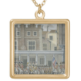 Military Band at St. James' Palace, late 18th cent Gold Plated Necklace