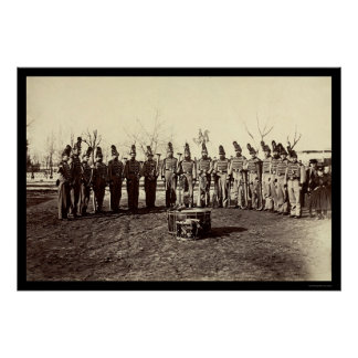 Military Band of the Veteran Reserve Corps 1865 Poster