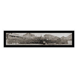 Military Band Pershing Photo 1918 Poster