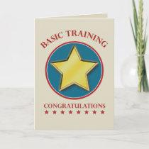 Military Basic Training Graduation Congratulations Card