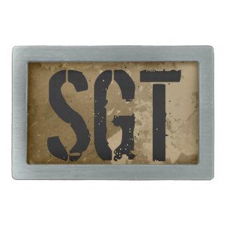 Military belt buckle for sergeant | Vintage SGT