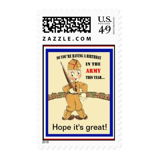 Military Birthday Postage Stamps
