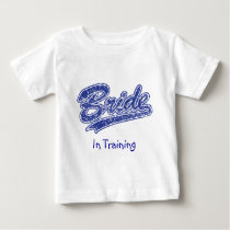 Military Blue Camouflage Bride Baby T-Shirt