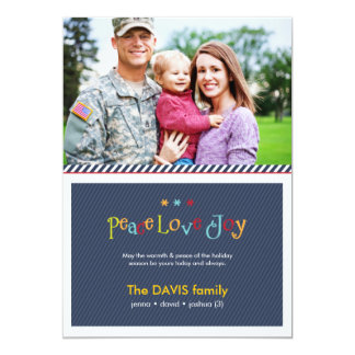 Military Blue Double Sided Holiday Photo Card