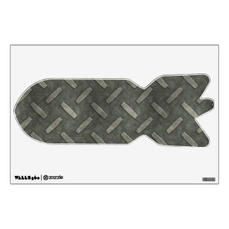 Military Bomb With Diamond Plate Steel Wall Decal