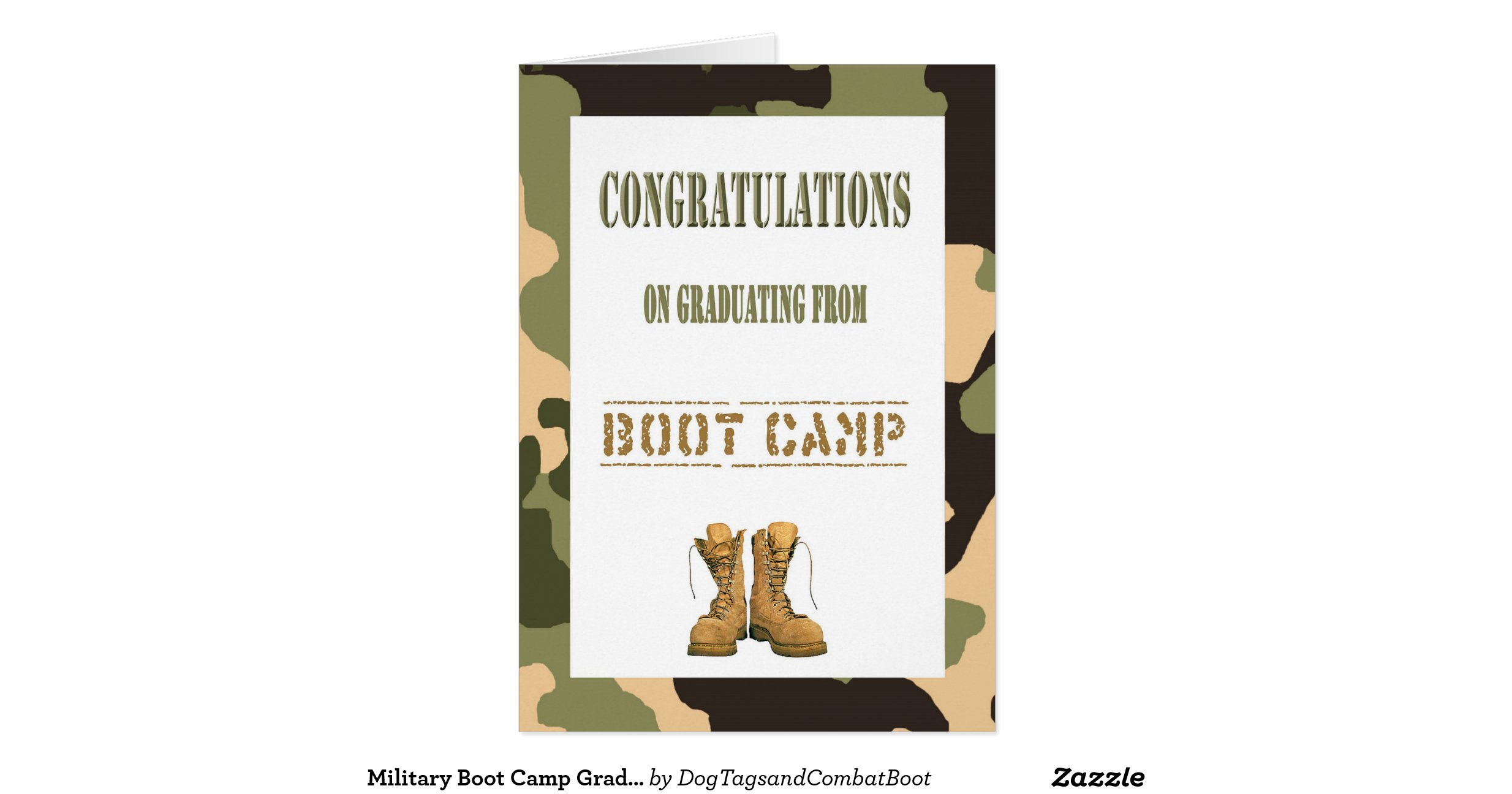 military boot c graduation card