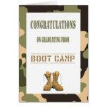 Military Boot Camp Graduation Card