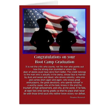 Military Boot Camp Graduation Famous Quote Card
