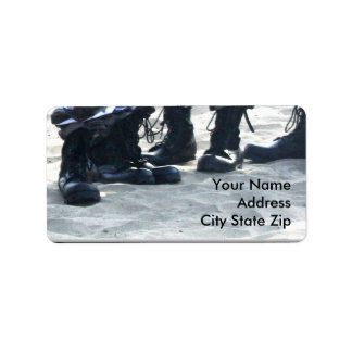 Military Boots Address Labels