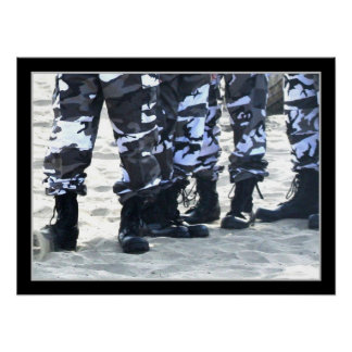 Military Boots Canvas Print
