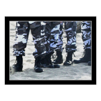 Military boots poster