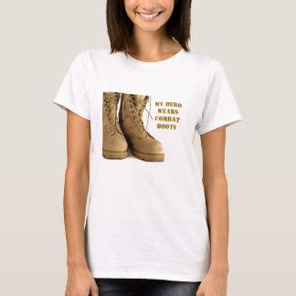 military boots women's t-shirt