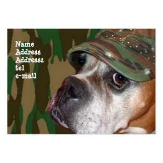 Military Boxer Dog Large Business Cards