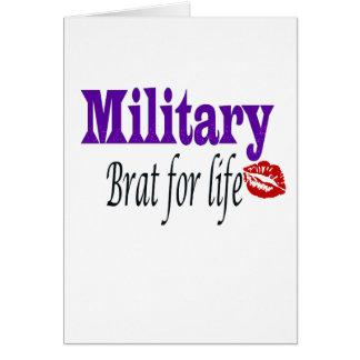 military brat 2 greeting card