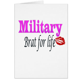 military brat 3 greeting card