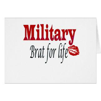 military brat 4 greeting card