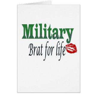military brat 5 greeting card