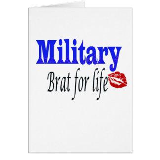 military brat 6 greeting card