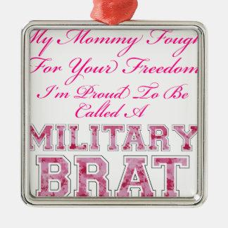 Military Brat Metal Ornament