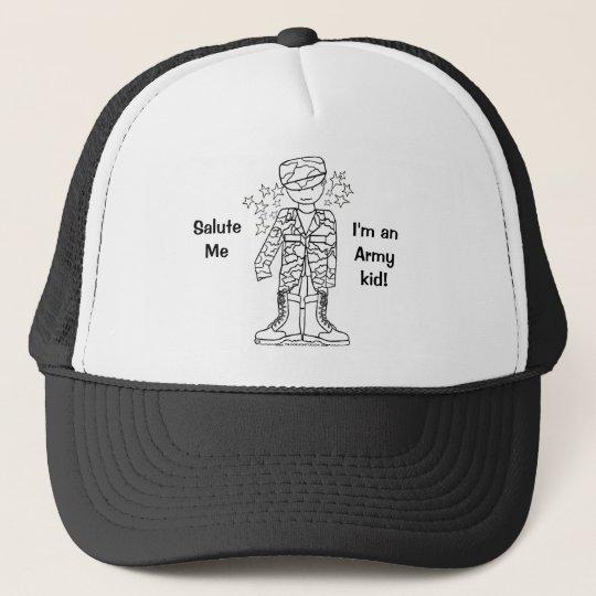 1660fb04 Military Brat(tm) Army Kid hat   Zazzle.com