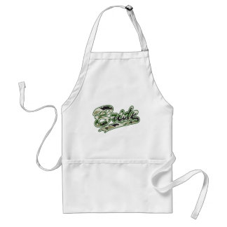 Military Bride Green Camouflage Adult Apron