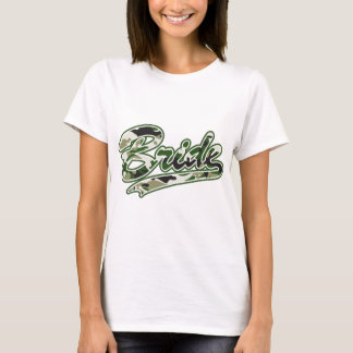Military Bride Green Camouflage T-Shirt