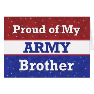 Military - BROTHER in Army - Thinking of You Card