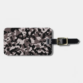 Military Brown Camouflage Pattern Bag Tag