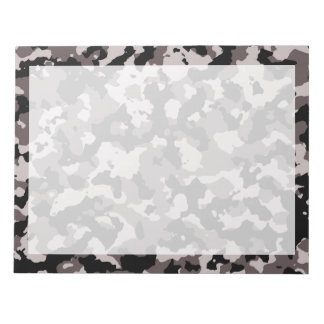 Military Brown Camouflage Pattern Notepad