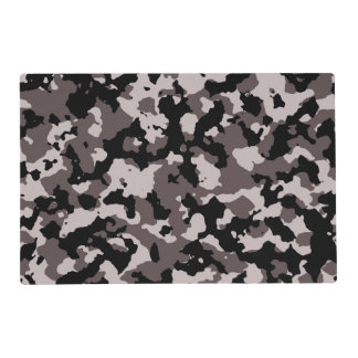 Military Brown Camouflage Pattern Placemat