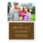Military Brown Double Sided Holiday Photo Card Custom Invitation