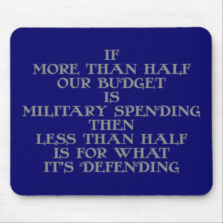 Military Budget Mouse Pad