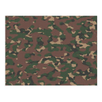 Military Camo 4 Soldiers, Patriots & Veterans Army Postcard
