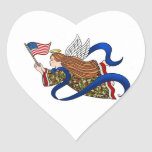 """Military Camo Angel"" Heart Sticker"