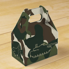 Military Camo Army Birthday Party Favor Boxes