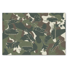 Military Camo Army Tank Helicopter Jet Gift Tissue Paper