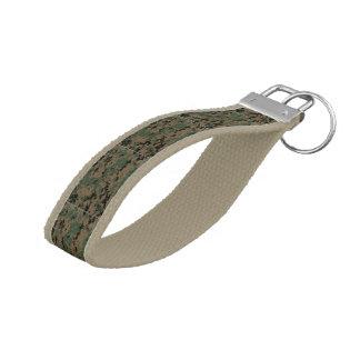 military camo camouflage digital marine pilot art wrist keychain