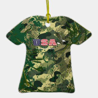 Military Camo Camouflage T-Shirt Ornament