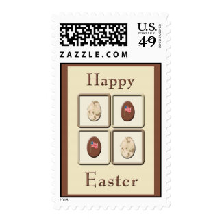 Military Camo & Choco Eggs Easter Postage Stamps