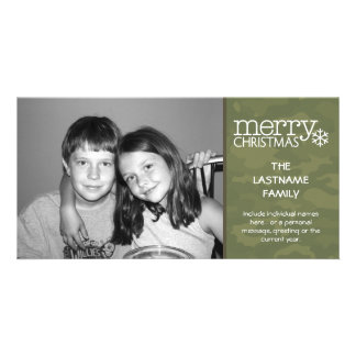 Military - Camo - Christmas Photo Card - 1 photo