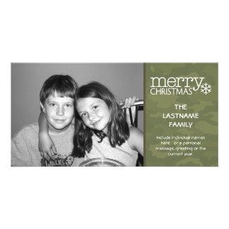 Military - Camo - Christmas Photo Card - 1 photo