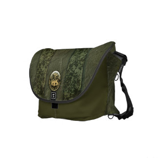 Military Camo Stripes with Army Insignia Courier Bag