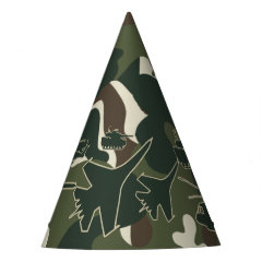 Military Camo Tank Jet Helicopter Boys Party Hats