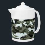 "Military Camo Teapot<br><div class=""desc"">Military camo teapot. The perfect gift for a very special person. Check out all matching products in our Store.</div>"