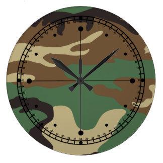 Military Camo Wall Clock